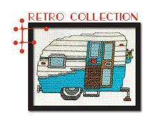 FREE geometric & retro cross stitch patterns! | Tiny Modernist