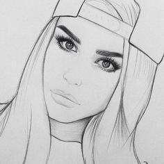 Pencil Drawing Tutorials Another repost ✏️ Pencil Drawing Tutorials, Pencil Art Drawings, Animal Drawings, Cool Drawings, Girl Drawing Sketches, Cartoon Girl Drawing, Drawings Pinterest, Symbolic Art, Tumblr Drawings