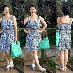 LEILA DINIZ *blog: #LookDoDia #vestido novo com babado + #sandália ma...
