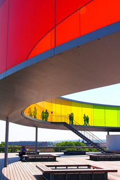 """Your Rainbow Panorama"" by Olafur Eliasson at the ARoS Aarhus Art Museum - Aarhus, Denmark"