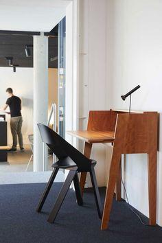 The graceful, yet functional desk by London based  Designer Tomoko Azumi brings joy in every home. Japanese Design, Office Desk, Designer, Conference Room, Joy, London, Table, Furniture, Home Decor