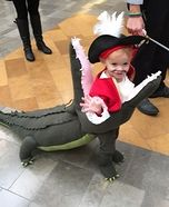 DIY baby costume ideas: Captain Hook getting Eaten by Tick Tock Croc Homemade Costume