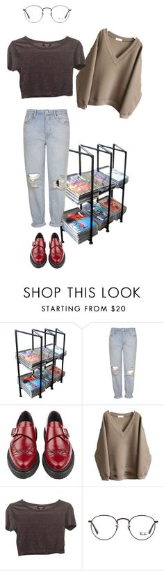 """""""Untitled #998"""" by adolescentdazecraze ❤ liked on Polyvore featuring Topshop, Yves Saint Laurent and Ray-Ban"""