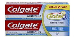 Colgate Total Whitening Gel Toothpaste Twin Pack AntiCavity (two Tubes) Best Whitening Toothpaste, Colgate Toothpaste, Solar Water Heating System, Mouthwash, Health Facts, Cavities, The Fresh, Personal Care, Twin
