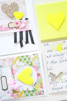 Heart Cards via Happy like Yellow blog by Kim Stewart