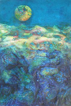 Susanne Clark ~ Luna Landscape (collagraph)