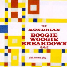 Play the Mondrian Boogie Woogie Breakdown Game! http://www.artsology.com/mondrian-breakdown.php
