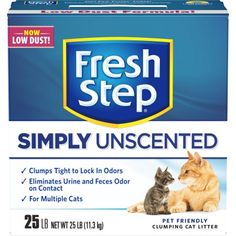 Fresh Step Multi-Cat, Clumping Cat Litter, Unscented, 25 Pounds, Multicolor