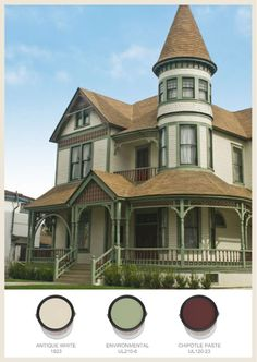 Victorian Colors victorian house exterior color chart | victorian home with bold