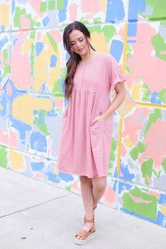 502319ef9f288 Mikarose Clothing Sammi Stripe Dress Mikarose Clothing Stripe Dress, Short  Sleeve Dresses, Striped Dress