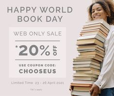 """🌎 📚 Did you know today is World Book Day? At Manna we 💛 BOOKS. """"Nourish your soul with Bible reading. It will prepare a spiritual feast for you."""" - St Augustine. Shop our WEB ONLY SALE - Use this Coupon Code: CHOOSEUS at the checkout to redeem *20% off. *T&Cs apply. Offer expires midnight 26th April 2021 and valid online only. . . #worldbookday #books #christianbooks #christiangifts #sale #mannanz #mannachristianstores #gifts #bibles #biblestudies #devotionals #journals #biblesocietynz Only Sale, Christian Gifts, Coupon Codes, Did You Know, Journals, Coupons, Spirituality, Bible, How To Apply"""