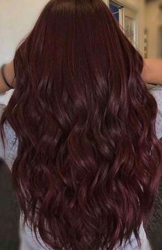 Hair Color Auburn, Hair Color For Black Hair, Deep Burgandy Hair Color, Aubergine Hair Color, Dark Burgundy Hair Color, Burgendy Hair, Plum Hair, Pelo Color Vino, Red Hair Inspo