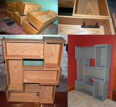 don t throw away those old dresser drawers here are 13 ways to repurpose them instead. Black Bedroom Furniture Sets. Home Design Ideas