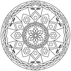 free printable mandala coloring pages - Free Printable Mandalas Coloring Pages Adults