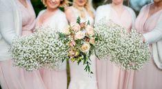 Baby Breath Gyp Gypsophila Bouquets Flowers Bride Bridal Bridesmaid Natural Pretty Pale Pink Wedding http://www.lisacarpenterphotos.com/