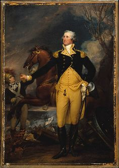 Trumbull Washington Resigning His Commission Wood Framed Canvas Prnt Repro 19x28