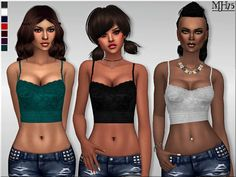 Sims 4 CC's - The Best: Jada Top by Margeh-75