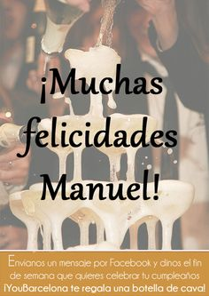 ¡Muchas felicidades Manuel! #YouBarcelona