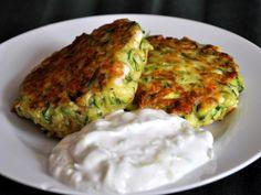 Kolokithokeftedes (Zucchini Fritters) with Tzatziki