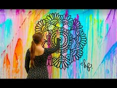 Mandala Wall Art | NO STENCILS - YouTube