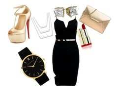 """church today"" by kaleahbtodd on Polyvore featuring Christian Louboutin, MICHAEL Michael Kors and Larsson & Jennings"