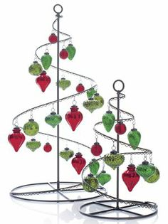 silver green white ornaments on an ornament tree merry christmas pinterest white ornaments ornament and ornament tree - Crate And Barrel Christmas Decorations