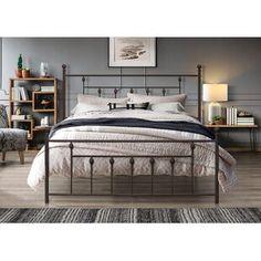 Winston Porter Sagamore Platform Bed | Wayfair Metal Platform Bed, Queen Platform Bed, Bedroom Furniture Stores, Furniture Deals, Bed Frame Parts, Headboard And Footboard, Headboards, Bed Reviews, Adjustable Beds
