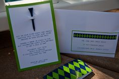 GOLF PARTY - invitations