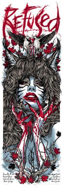 Rhys Cooper Pearl Jam, Blink 182  Refused Posters on sale