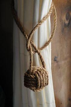 Náuticas Home Decor 2 náutico cortina abrazaderas