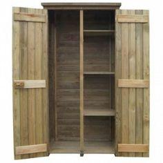 Fenyőfa kerti szerszámtároló fészer 85 x 48 x 177 cm Wooden Storage Sheds, Shed Storage, Outdoor Tool Storage, Outdoor Tools, Garden Tool Shed, Garden Tool Storage, Yard Tool Storage Ideas, Shed Builders, Ideas