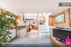 Just because you don't own a houseboat doesn't mean you can't try one out for a few days. Check out airbnb's selection of houseboats in Amsterdam.