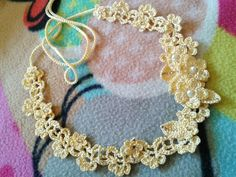 Crochet necklace..