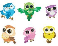owl clip art digital clipart Cute Owl Digital Clip Art by Werata