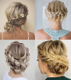 Hairstyles with braids 2018 - Hair Color Ideas Ball Hairstyles, Braided Hairstyles, Wedding Hairstyles, Bridesmaid Hair, Prom Hair, Types Of Braids, Hair Dos, Hair Inspiration, Short Hair Styles
