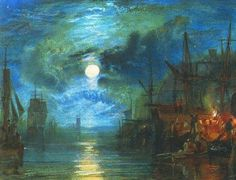 "Joseph Mallord William Turner (1775-1851) - ""On the River Tyne"""