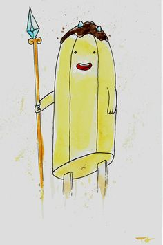 Banana Guard from Adventure Time Original Watercolor by allbroke