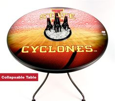 Complete your collection with this Iowa state basketball table