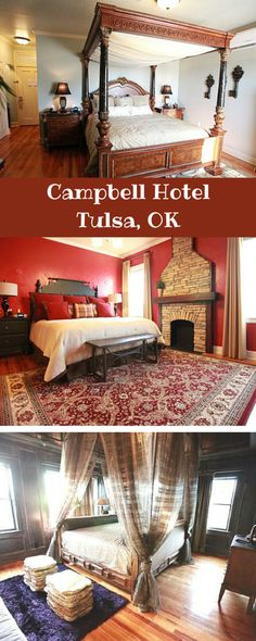 The Campbell Hotel in Tulsa features 26 uniquely themed rooms and suites each with its own personality. There's also a full-service salon and spa on-site as well as a restaurant and elegant lounge for a relaxing drink in the evening.