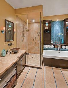 pastilhas parede e piso. decoração do banheiro com azulejos