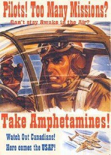 Weird and WTF Vintage Ads: Pilots, take amphetamines! !