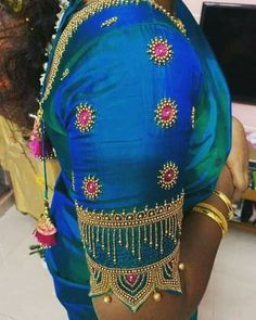 Cutwork Blouse Designs, Kids Blouse Designs, Simple Blouse Designs, Blouse Neck Designs, Hand Designs, Mirror Work Blouse Design, Designer Blouse Patterns, Saree Blouse, Hand Embroidery