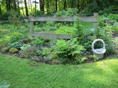 """Today's photos are from Jo Busha in Vermont. Jo says, """"These are photos of various parts of my garden in June and in the fall. I have lived in this house on 10 acres in central Vermont for 37 years. Lush Garden, Shade Garden, Lawn And Garden, Garden Tips, Dream Garden, Organic Gardening Magazine, Fine Gardening, Corner Flower Bed, Deck With Pergola"""