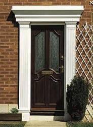 Georgian door surrounds stocked at APC Architectural Mouldings UK. Sharp and clear cut Georgian style. Georgian Doors, Georgian House, Roofing Supplies, Traditional Porch, Victorian Door, Roof Lantern, Door Detail, Door Canopy, Composite Door