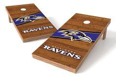 Baltimore Ravens Cornhole Board Set - Logo (w/Bluetooth Speakers)