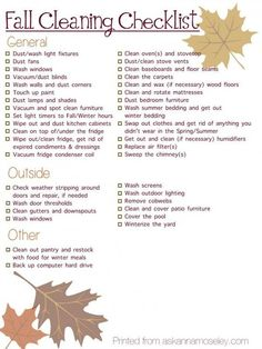 Outside Spring Cleaning List