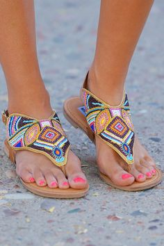 Mariachi Sandals - Tan from Closet Candy Boutique