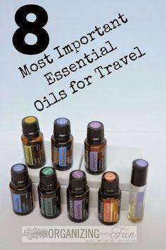 8 Most Important Essential Oils for Travel :: OrganizingMadeFun.com
