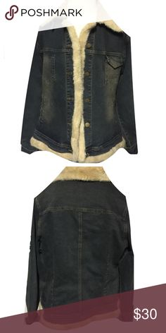 •Denim Jacket• Super cute denim jacket that is cuffed with fur along with the neck. Perfect for those cold winter days. stephanie Jackets & Coats Jean Jackets