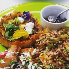 Filo pastry with goats cheese & roasted garlic butternut squash along with our quinoa red rice pistachio & orange salad  #Eathos #EathosDublin #FoodForThought #FromPassionToPlate #HealthyDublin #HealthyEating #GlutenFree #DairyFree #Lunch #Salads #EatClean #CleanEating #BaggotStreet by eathosdublin